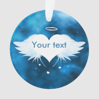 円形のアクリルのオーナメント-ハートの天使 オーナメント