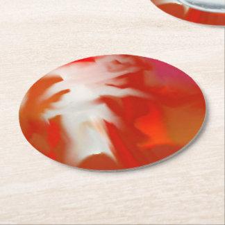円形のコースターの大理石1つの芸術のデザインの赤/白 ラウンドペーパーコースター
