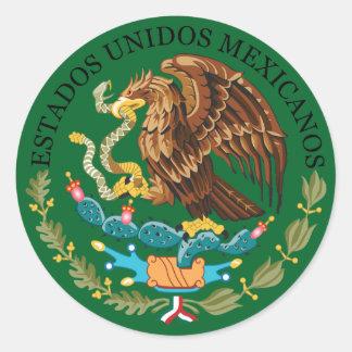 円形のステッカーメキシコの紋章付き外衣 ラウンドシール