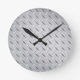 円形のダイヤモンドのプレートの時計 ラウンド壁時計