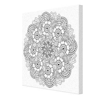 円形のデザインの落書き6 キャンバスプリント