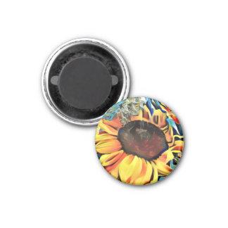 円形のパステル調のヒマワリの磁石 マグネット