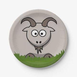 円形のヤギ ペーパープレート