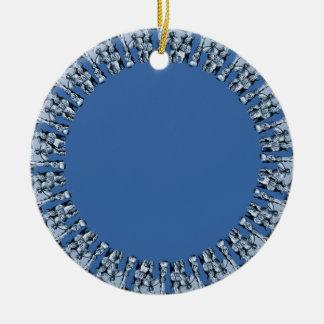 円形のロイヤルブルー セラミックオーナメント