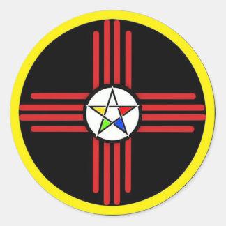 円形のロゴのステッカー ラウンドシール