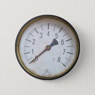 円形の圧力計のメートルのダイヤル 缶バッジ