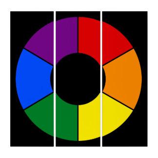 円形の大きい光線フレームの虹 + あなたのbackgr。 及びアイディア トリプティカ