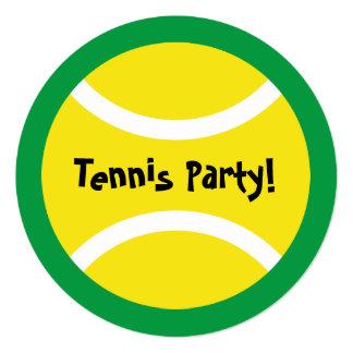 円形の子供のテニスのテーマのバースデーパーティ招待状 13.3 スクエアインビテーションカード