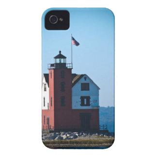 円形の島の灯台 Case-Mate iPhone 4 ケース