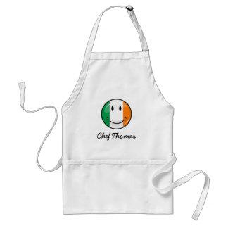 円形の微笑のアイルランドの旗 スタンダードエプロン