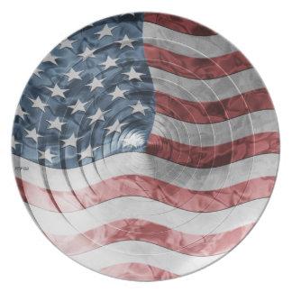 円形の旗 プレート