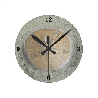 円形の時計のsanddollar写真 ラウンド壁時計