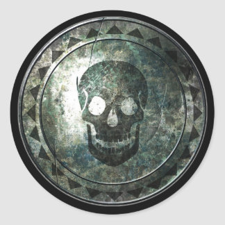円形の盾-スカルの紋章 ラウンドシール