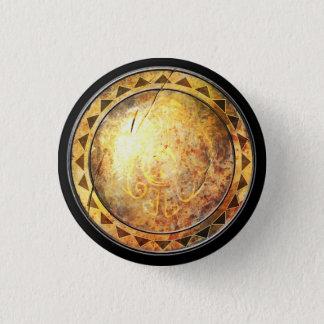 円形の盾-日曜日の金紋章 缶バッジ