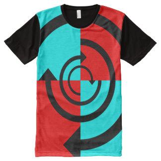 円形の矢 オールオーバープリントT シャツ