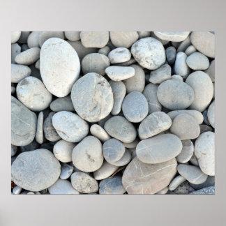 円形の石造りの質の石の鉱物の自然の砂利 プリント