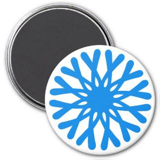 円形の磁石の雪片 マグネット