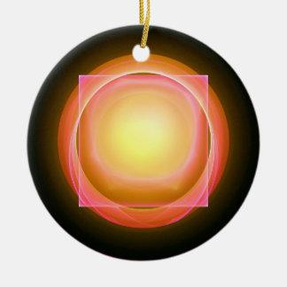円形の穴の正方形止め釘 陶器製丸型オーナメント