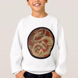 円形の赤いドラゴン スウェットシャツ