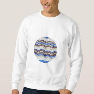 円形の青いモザイク人の基本的なスエットシャツ スウェットシャツ