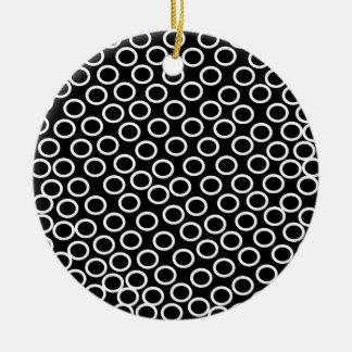 円形の黒いイメージ セラミックオーナメント