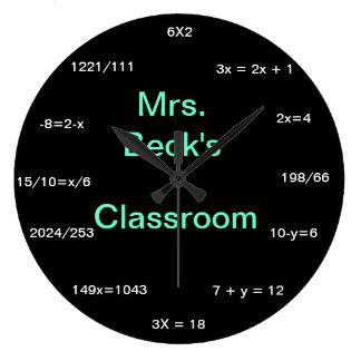 円形の(大きい)壁の数学の時計 ラージ壁時計