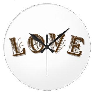 円形の(大きい)柱時計 ラージ壁時計