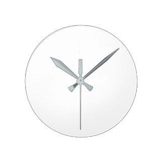 円形の(大きい)柱時計-灰色手 時計
