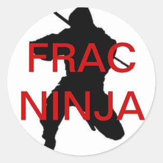 円形のfracの忍者のステッカー ラウンドシール