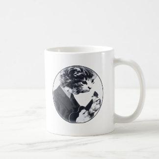 円形ウクレレ猫 コーヒーマグカップ