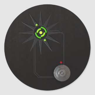 円形サイバーパンクLEDのステッカー ラウンドシール