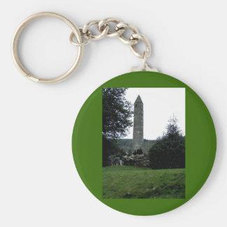 円形タワー、Glendalough、Co.Wicklow、アイルランド キーホルダー