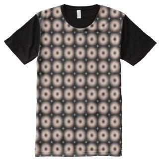 円形パターン オールオーバープリントT シャツ