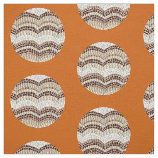 円形ベージュモザイクによってとかされる綿織物 ファブリック
