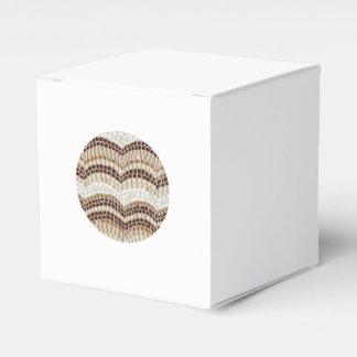 円形ベージュモザイククラシックな好意箱 フェイバーボックス