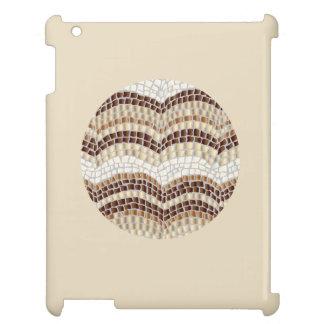 円形ベージュモザイク光沢のあるiPadの場合 iPadケース