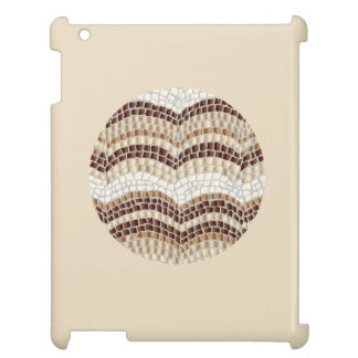 円形ベージュモザイク光沢のあるiPadの場合 iPad Case