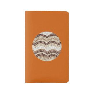 円形ベージュモザイク大きいノート ラージMoleskineノートブック