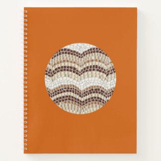 円形ベージュモザイク螺線形ノート ノートブック