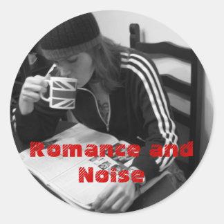 円形ロマンスおよび騒音のステッカー-カスタマイズ ラウンドシール