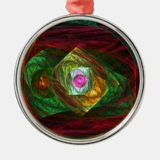 円形動的つながりの抽象美術 メタルオーナメント