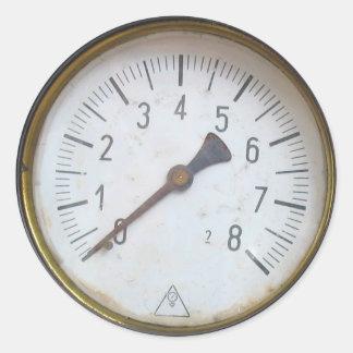 円形圧力メートルのダイヤルのステッカー ラウンドシール