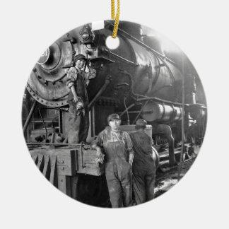 円形機関車庫Galsのヴィンテージ機関車 セラミックオーナメント