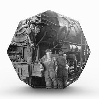 円形機関車庫Galsのヴィンテージ機関車 表彰盾