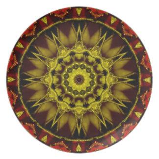 円形浮彫り プレート
