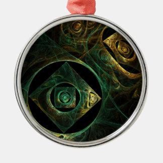 円形魔法の振動抽象美術 メタルオーナメント