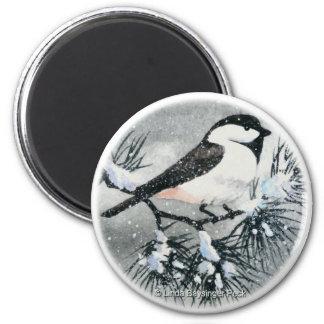 円形黒によっておおわれる《鳥》アメリカゴガラの鳥 マグネット