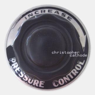 円形CCのステッカー ラウンドシール