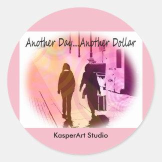円形KasperArtのスタジオのステッカー ラウンドシール