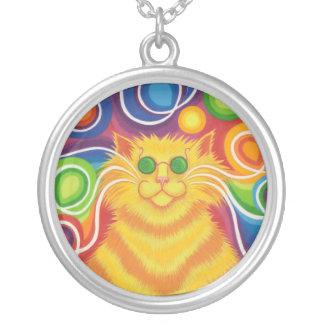 円形Psy猫delicのネックレス シルバープレートネックレス